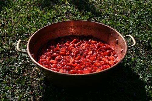 confiture de fraise cuisson